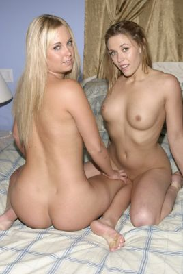 Nice lesbian action with strap on.